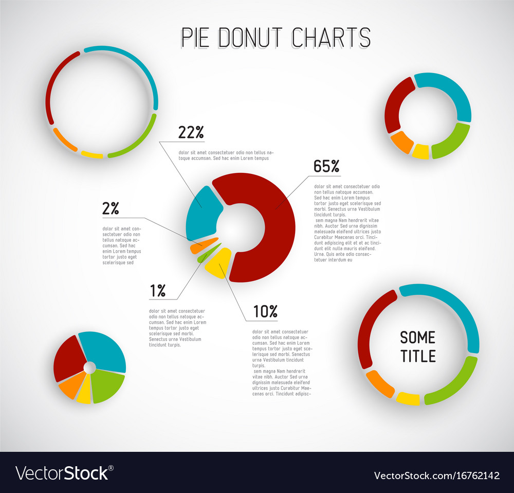 Donut Pie Chart Templates Vector Image  Pie Chart Templates