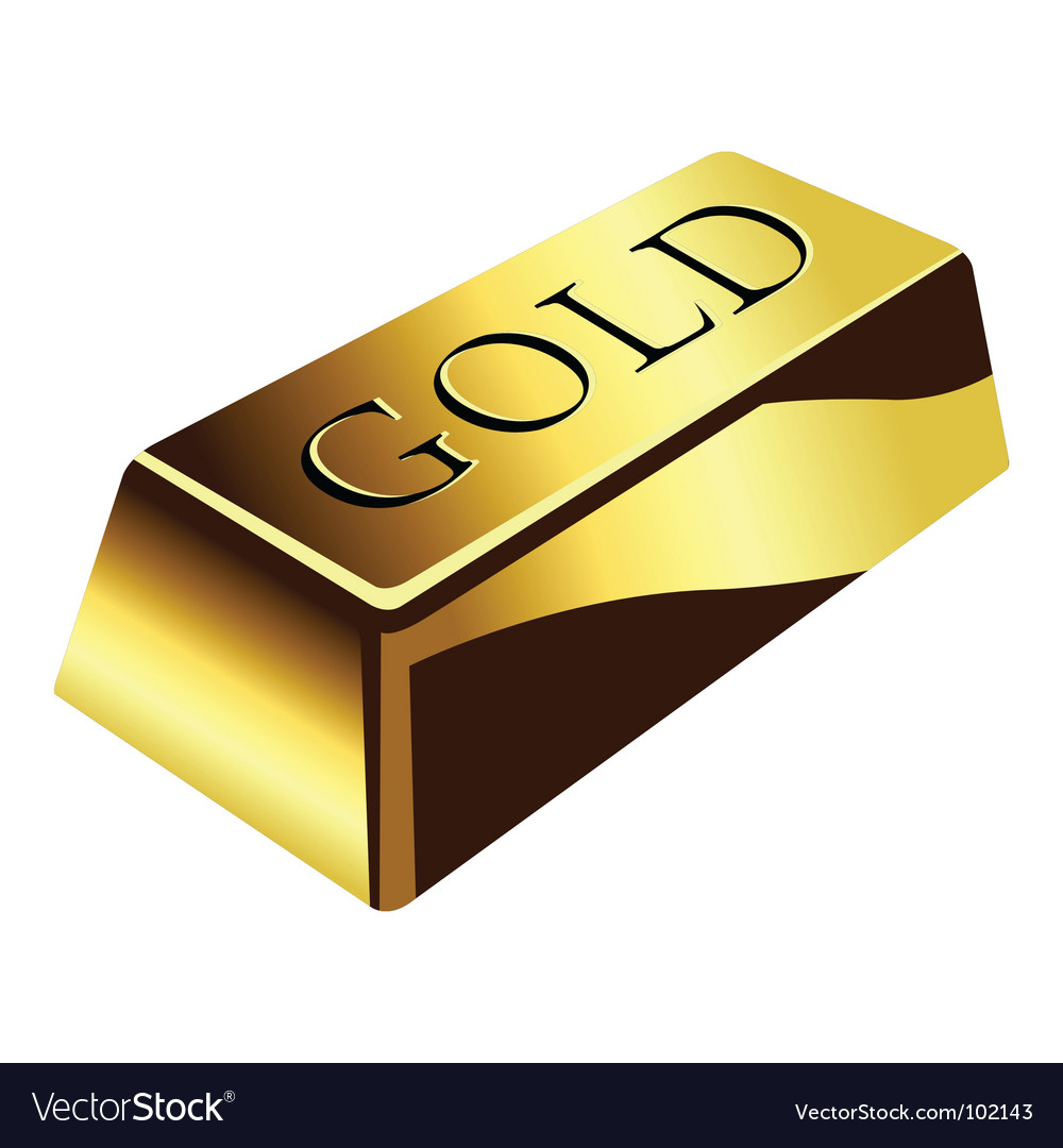 Gold bar vector image