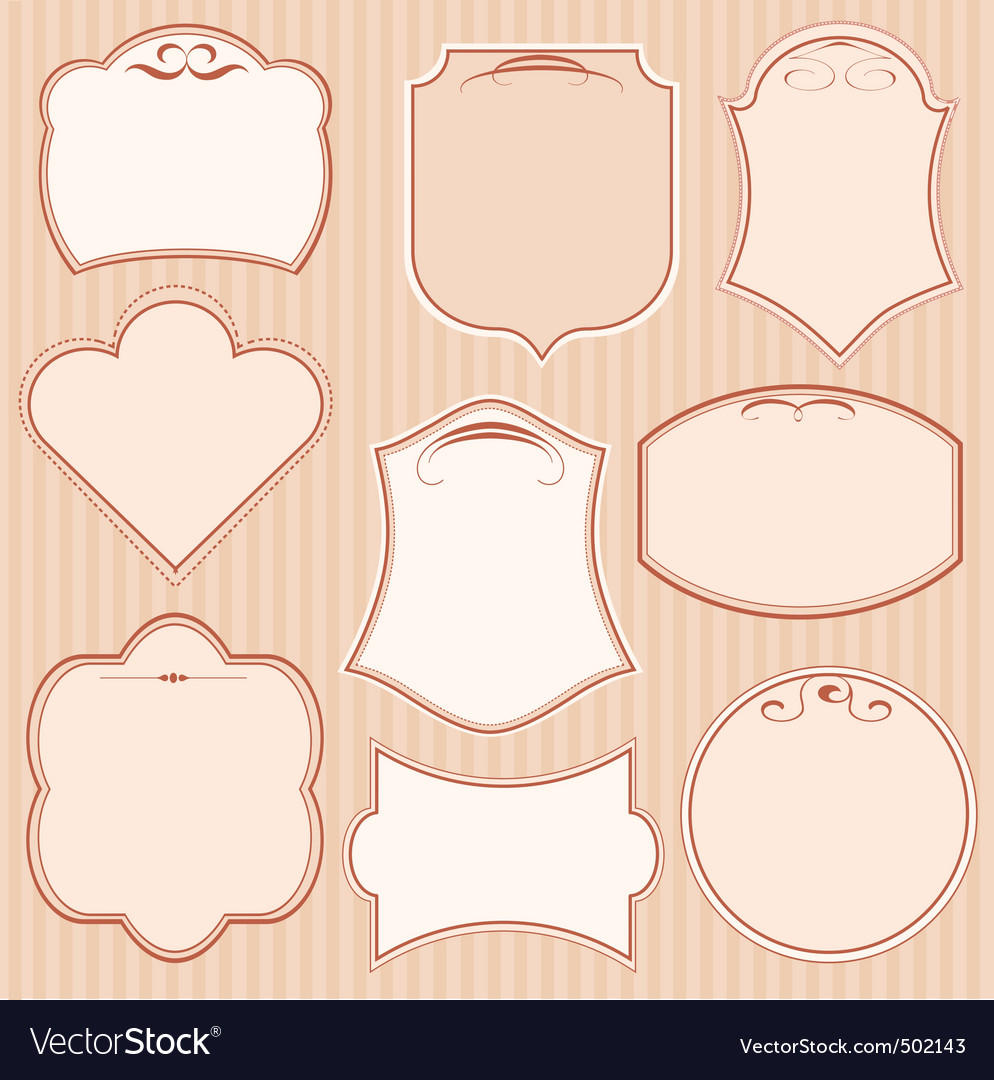 Set of vector frames vector image