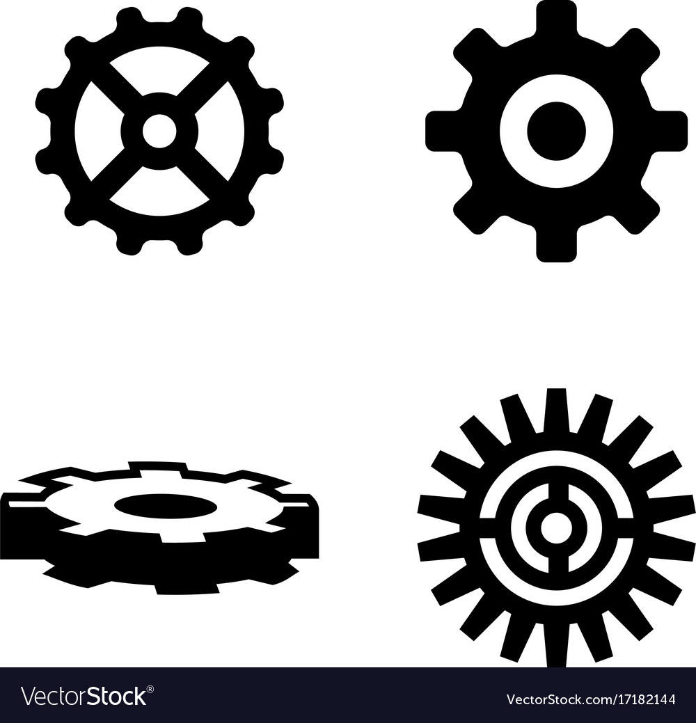 Gear simple related icons vector image