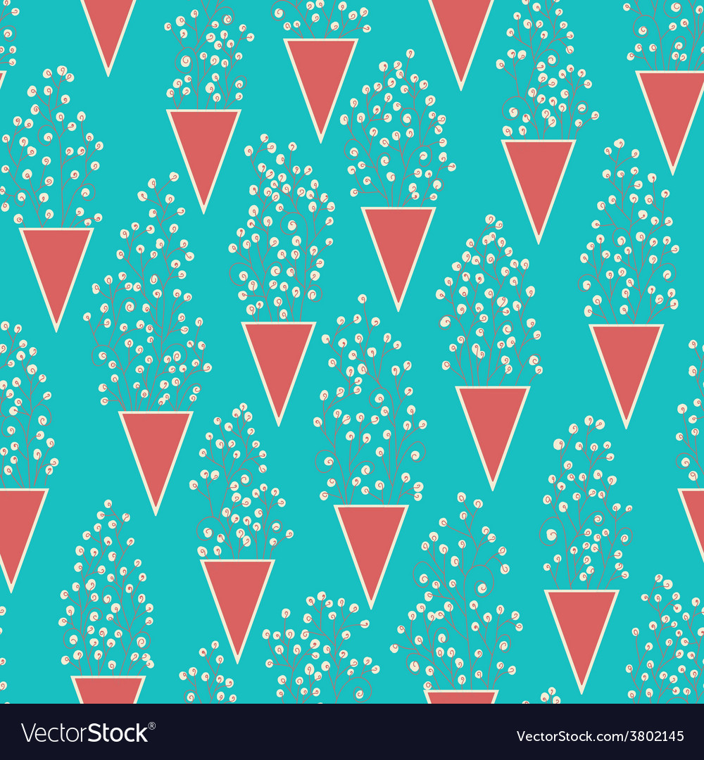 Cute seamless pattern with many small twigs vector image