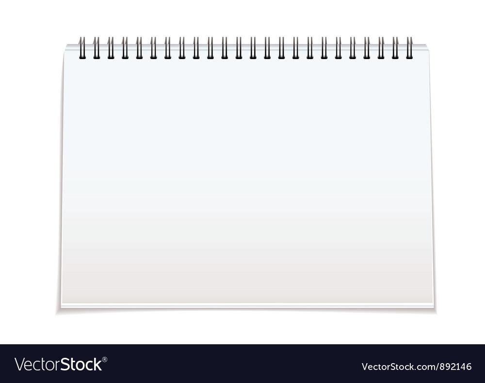 Spiral bound blan pad vector image