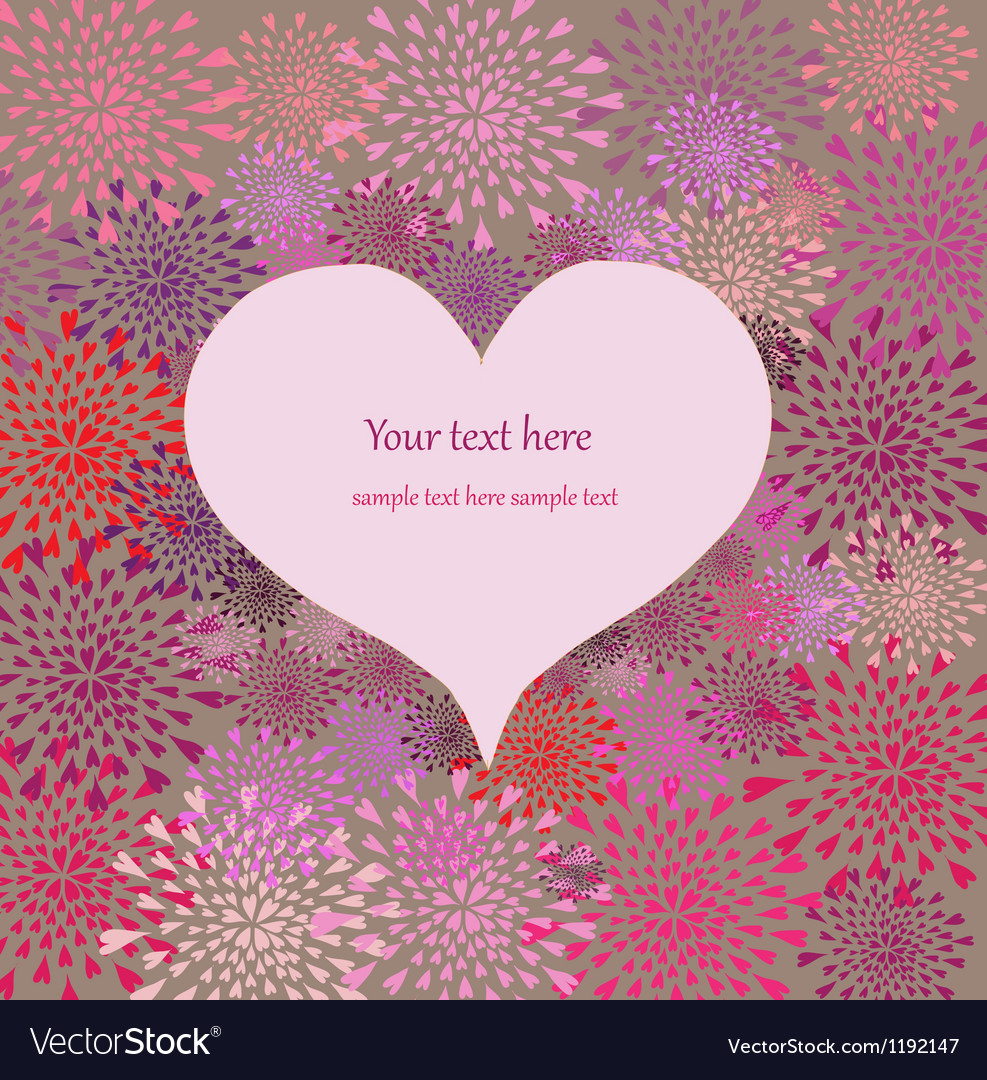 Floral heart in vintage style design for web print vector image