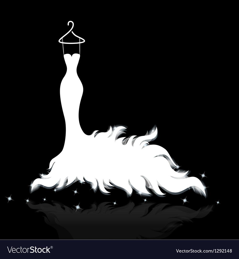 White wedding dress vector image