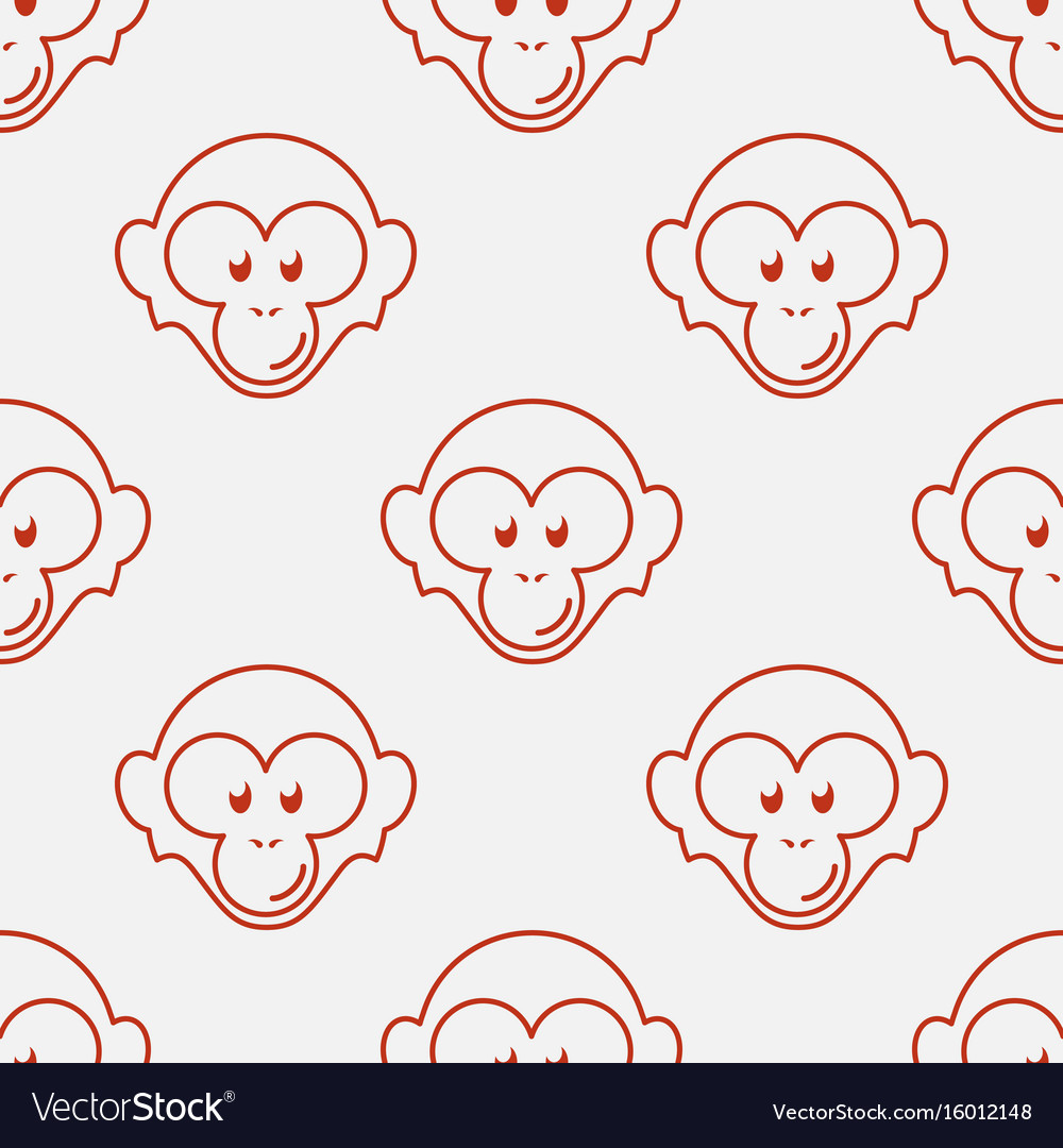 Monkey seamless pattern vector image