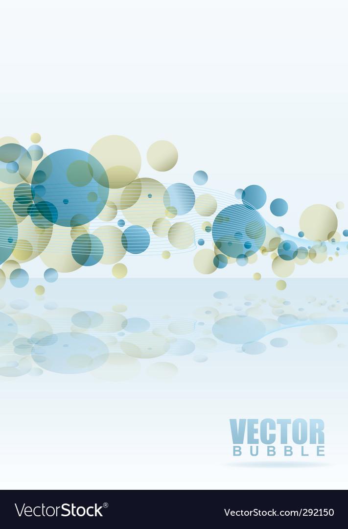 Rainbow subtle bubble vector image