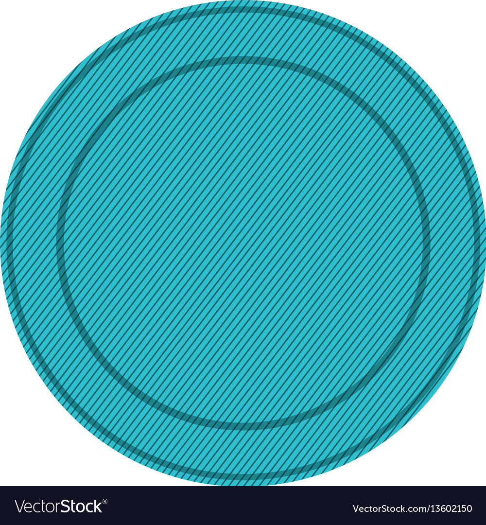 Silhouette with blue circular frame vector image