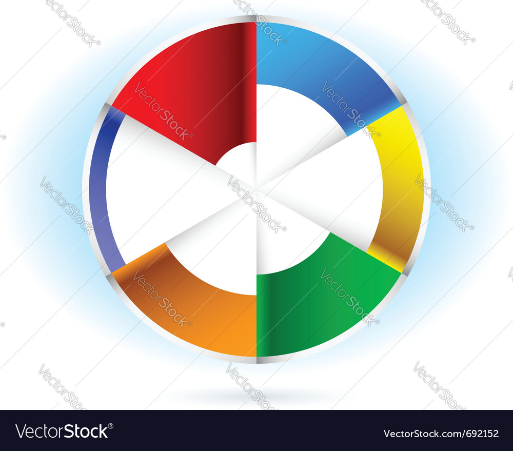 Abstract pie chart for design on white background vector image nvjuhfo Choice Image
