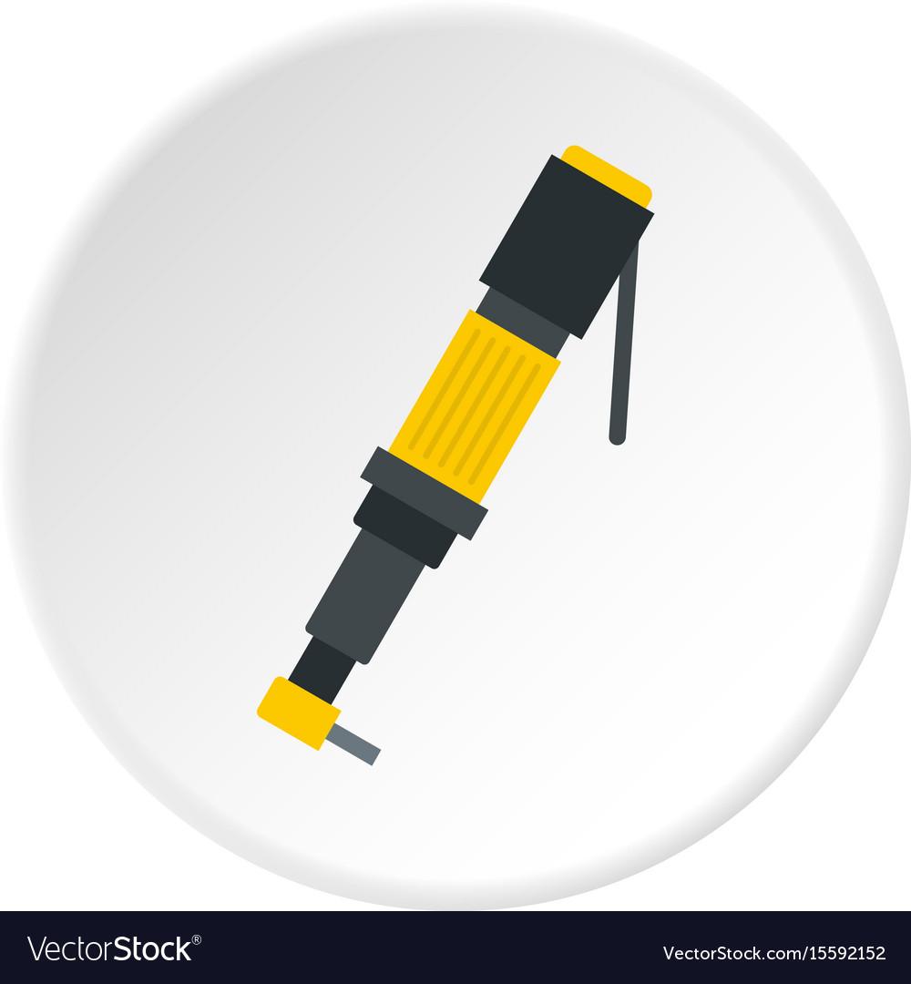 Pneumatic screwdriver icon circle vector image