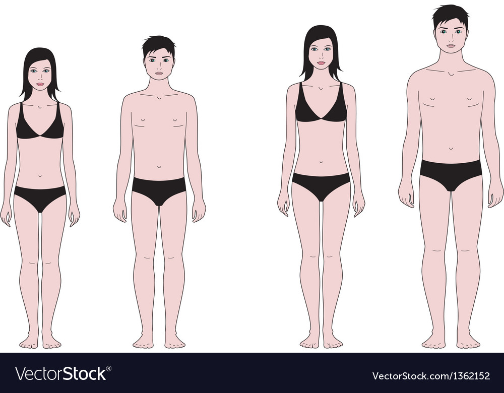 Teenager figure vector image