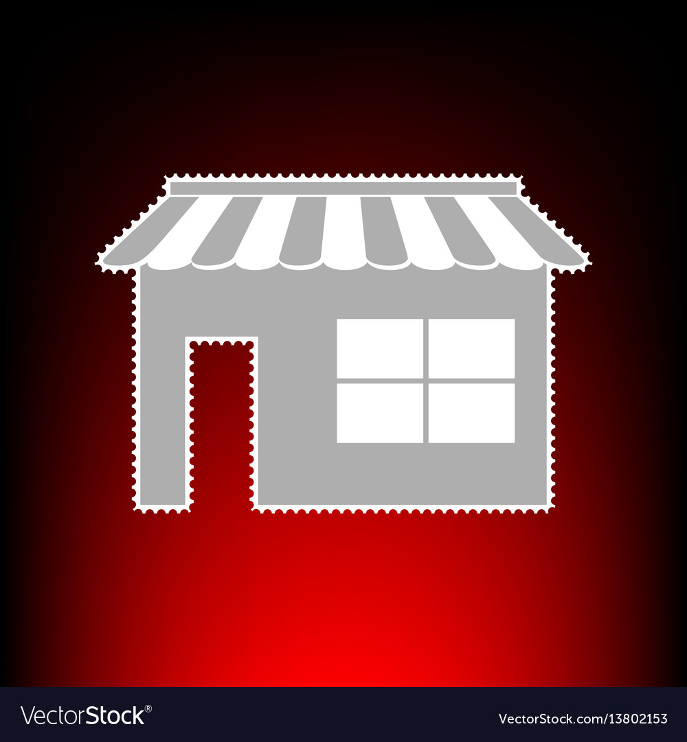 Store sign postage stamp or old vector image