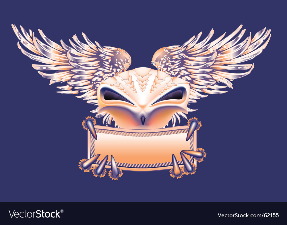 Bird banner vector image