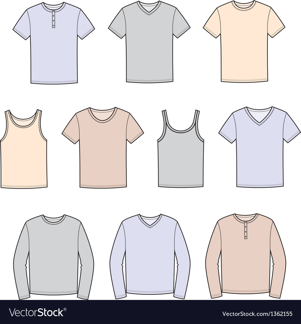 T shirt vector image