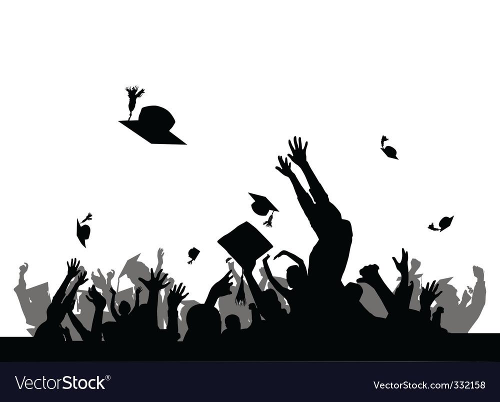 Graduation party Royalty Free Vector Image - VectorStock