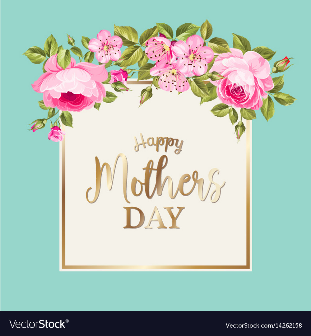 Happy mothers day greeting card royalty free vector image happy mothers day greeting card vector image kristyandbryce Image collections