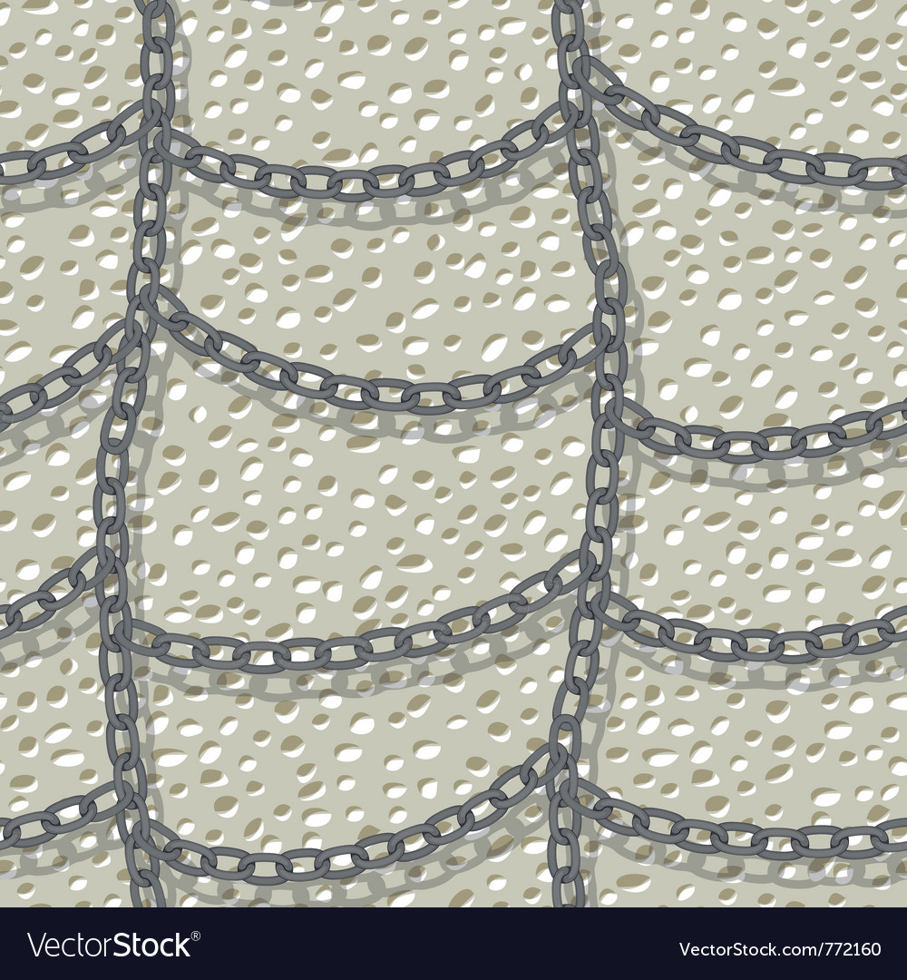 Chain seamless background vector image
