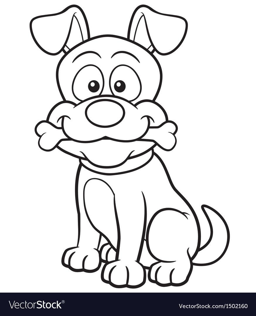 Dog outline vector image