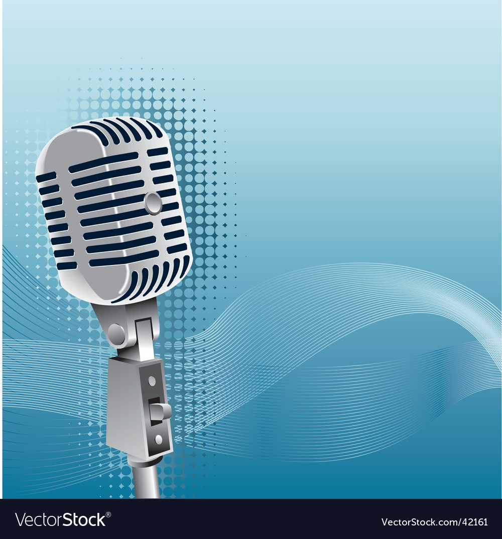 Mic vector image