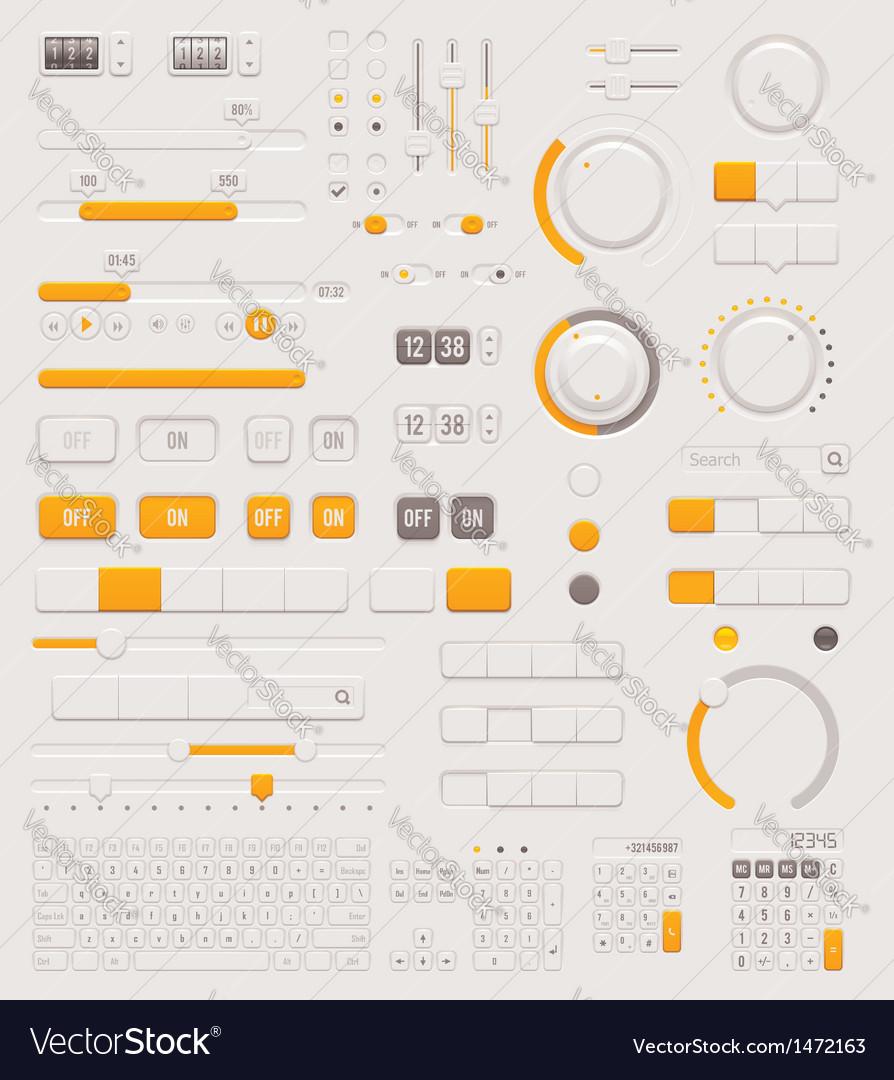 UI dials set vector image