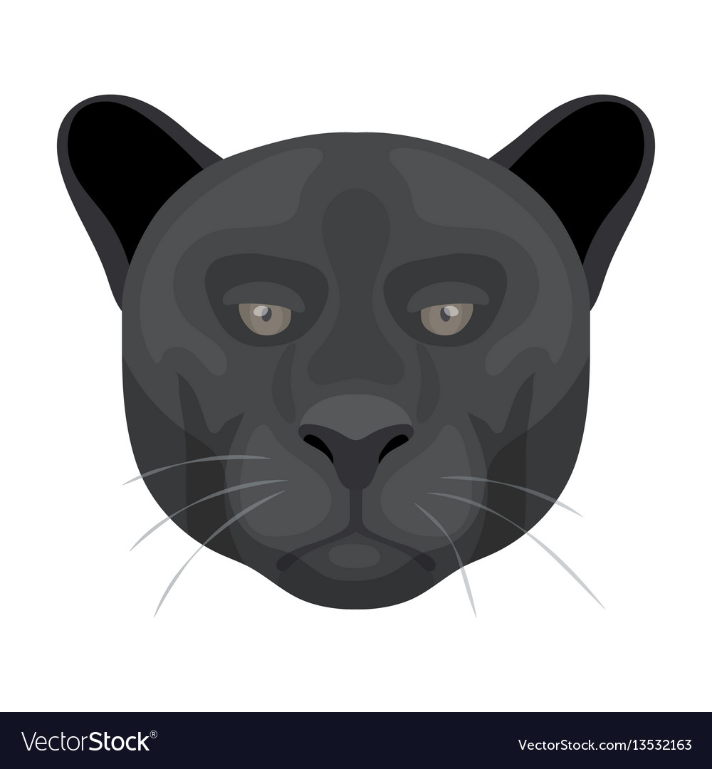Black panther icon in cartoon style isolated on vector image