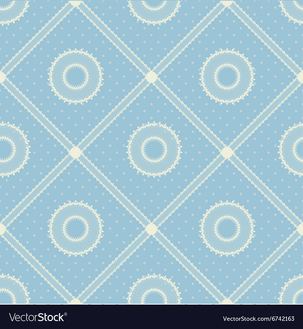 Seamless pattern with lace ribbon vector image