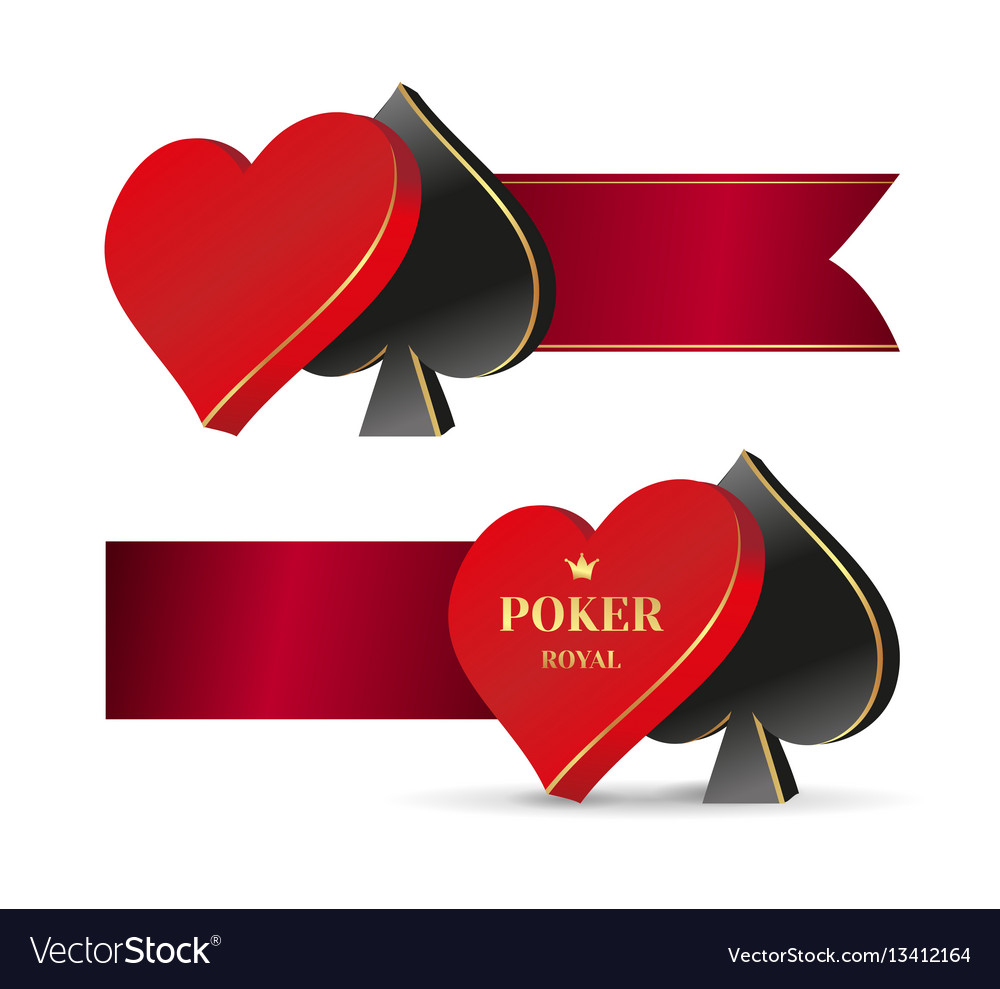 Banner symbol playing cards vector image