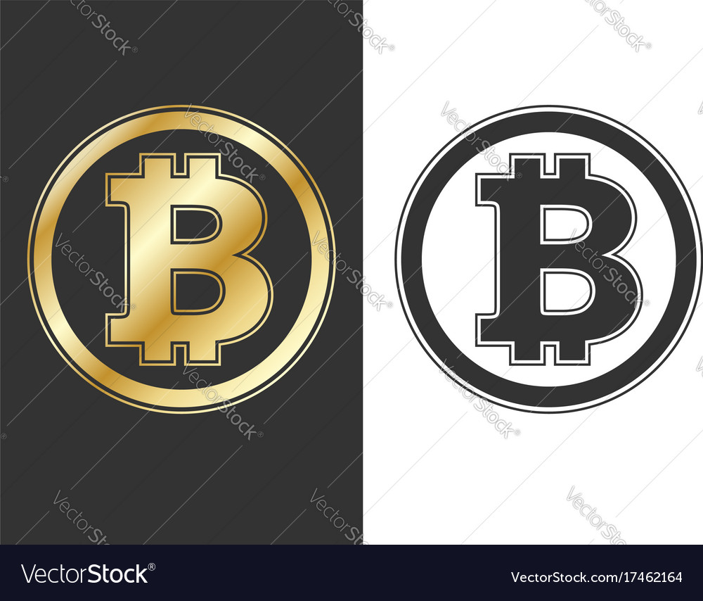 Crypto currency bitcoin symbols vector image