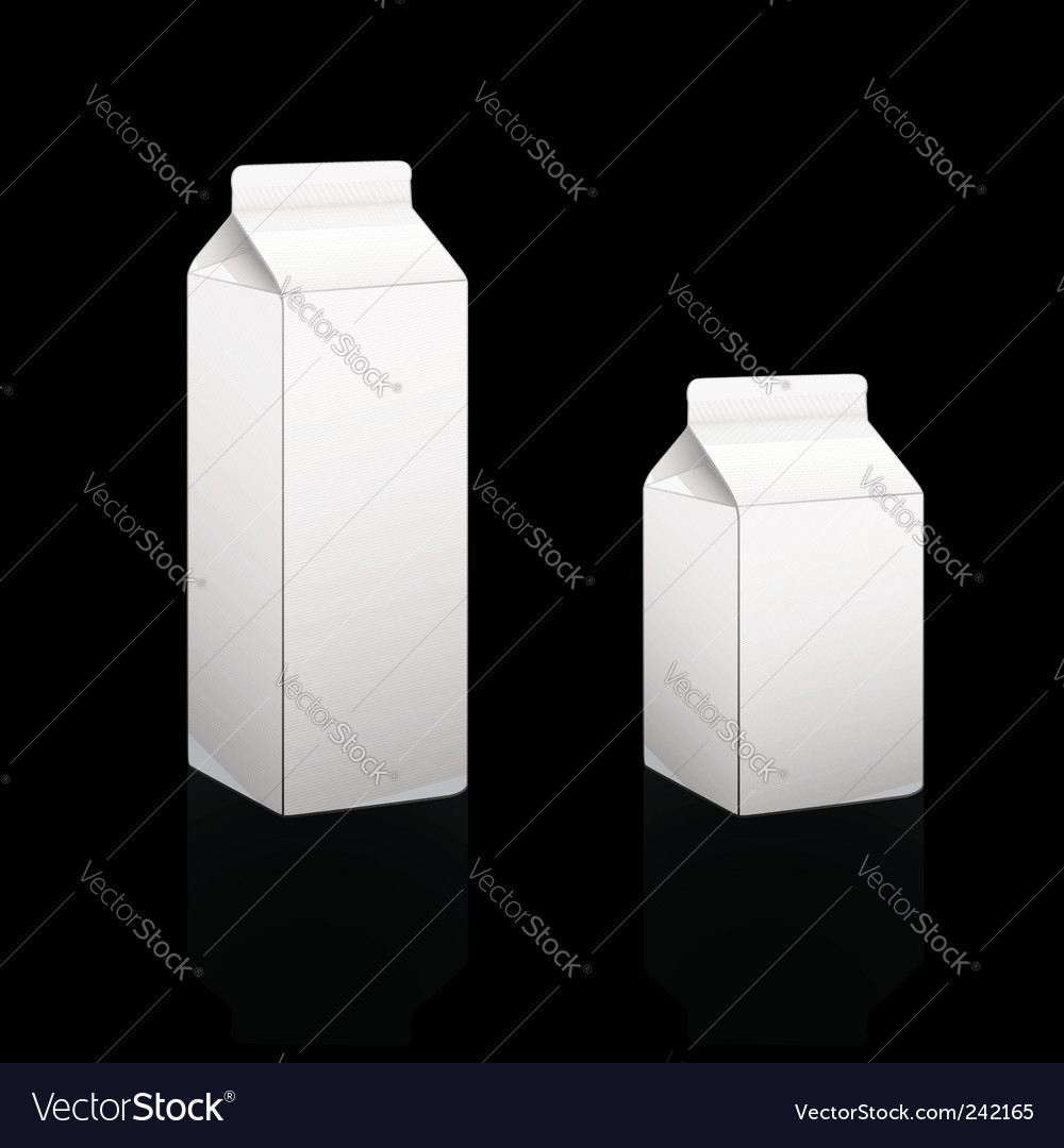 Cardboard pack 05 and 1lt vector image