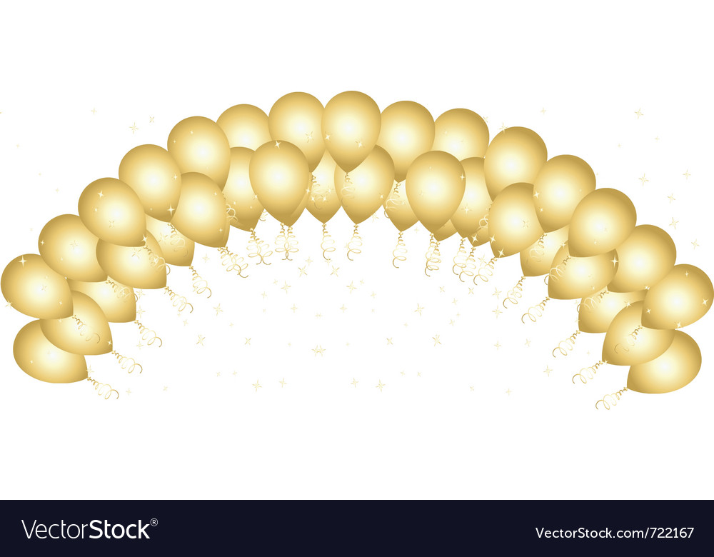 Celebration balloons vector image