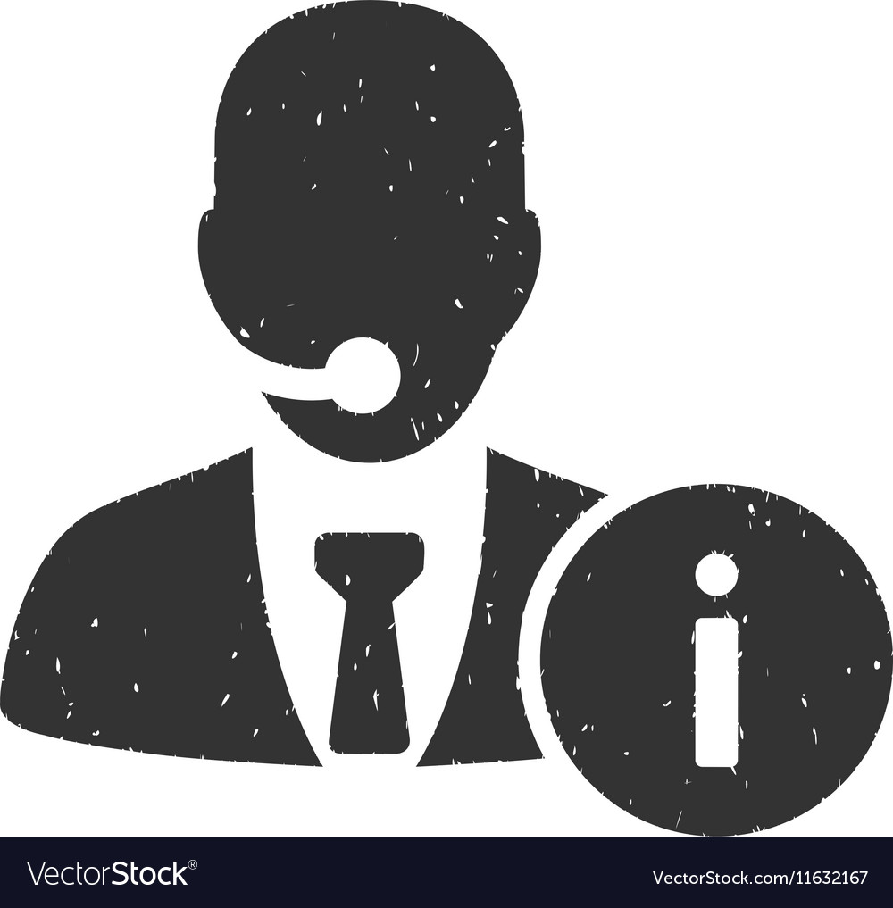Help Desk Icon Rubber Stamp vector image