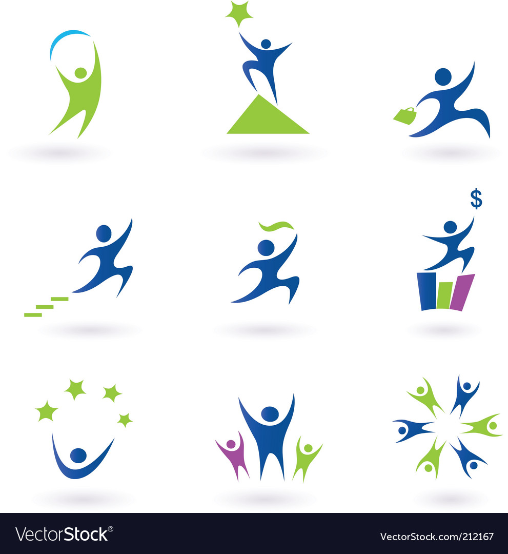 Success icons vector image