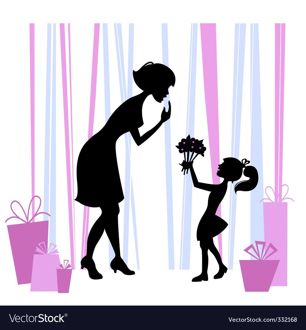 mother u0027s day design royalty free vector image vectorstock