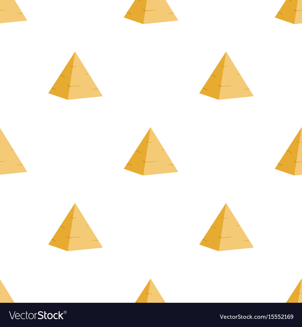 Ancient egyptian pyramid seamless pattern vector image