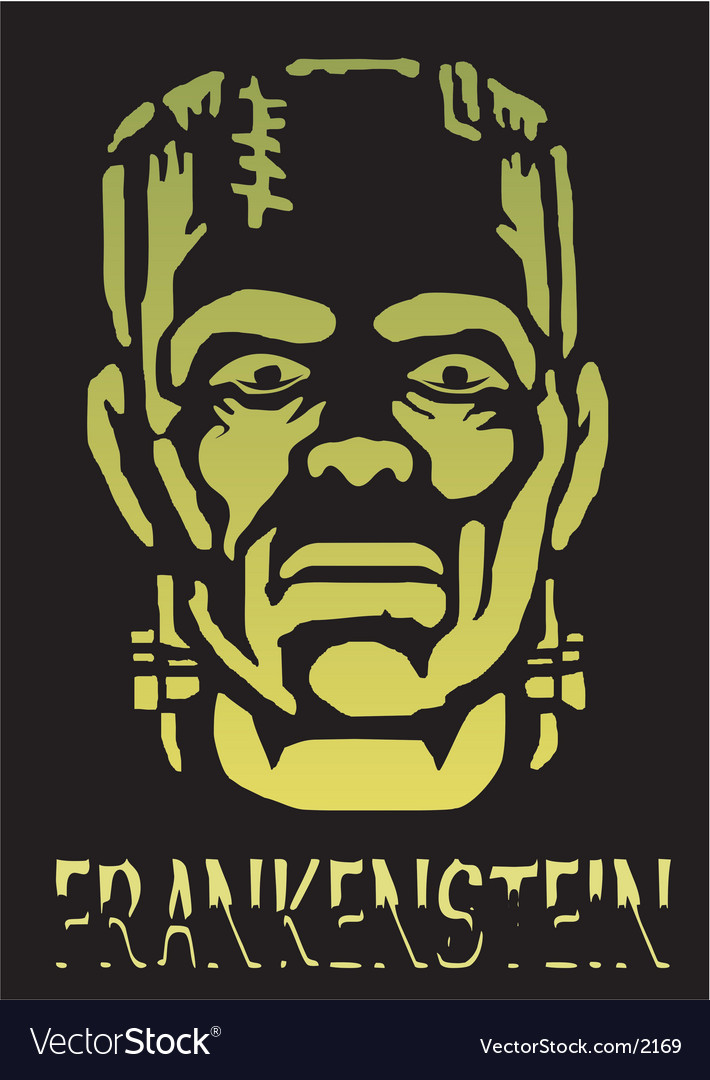 Halloween Frankenstein vector image