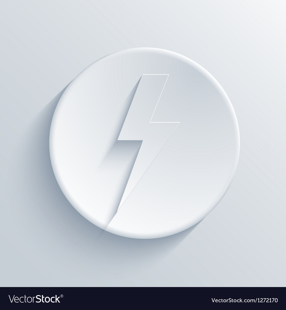 Light circle icon vector image