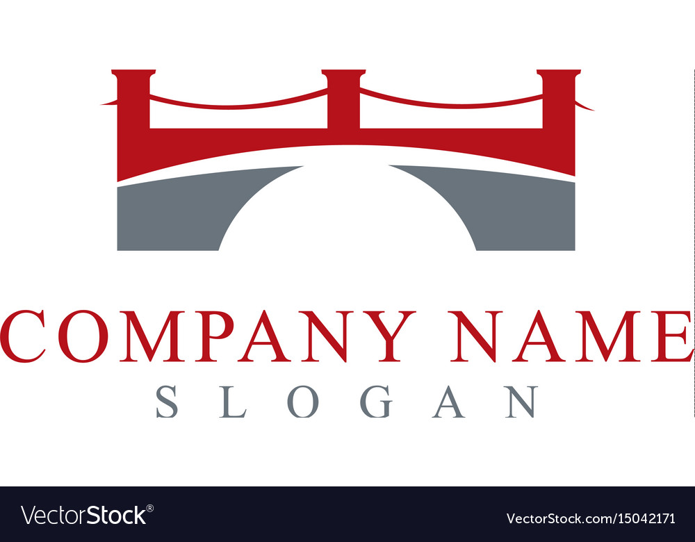 Bridge logo 2 vector image