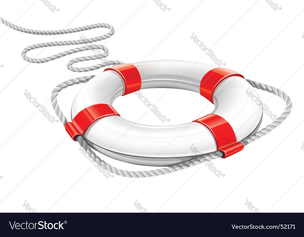 Life preserver vector image