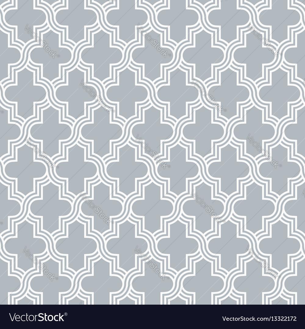 Arabesque quatrefoil lattice pattern outline vector image