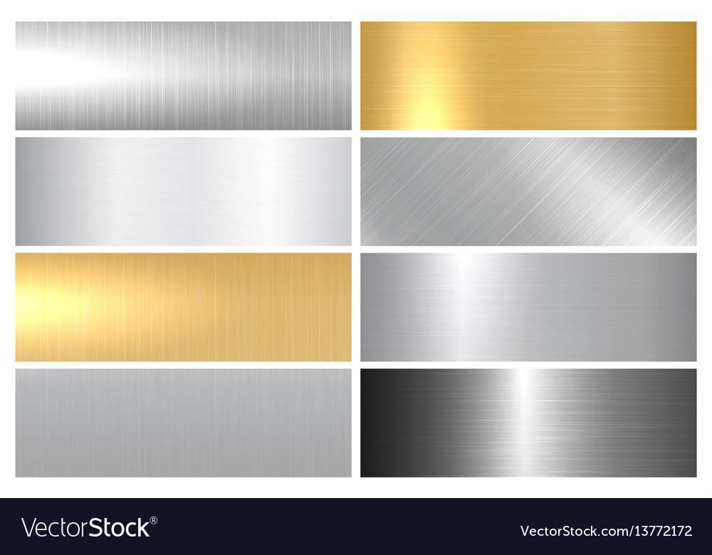 Metal bright textures vector image