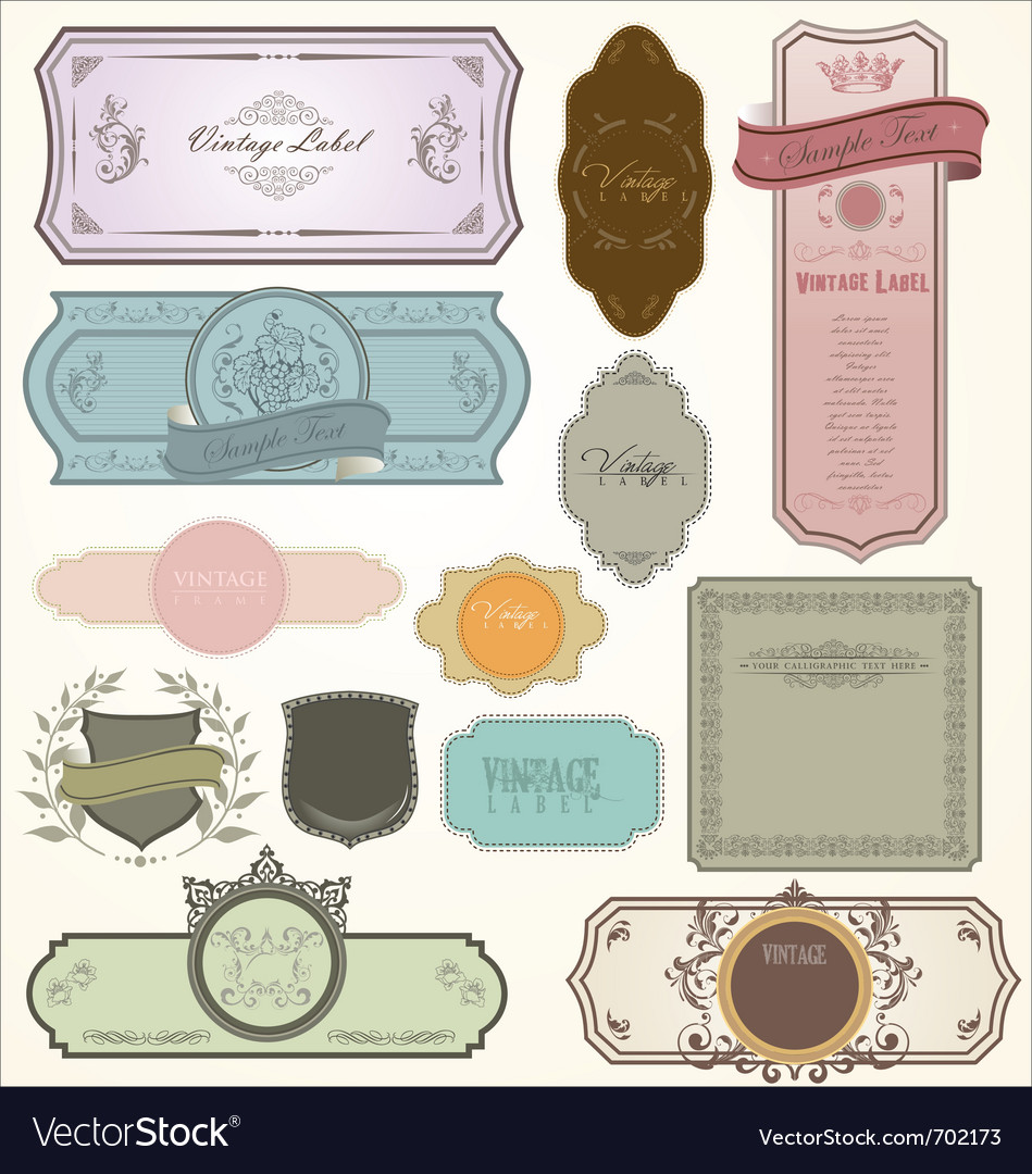Vintage labels - set vector image