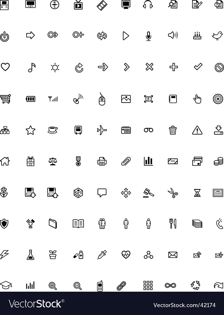 General purpose icons vector image