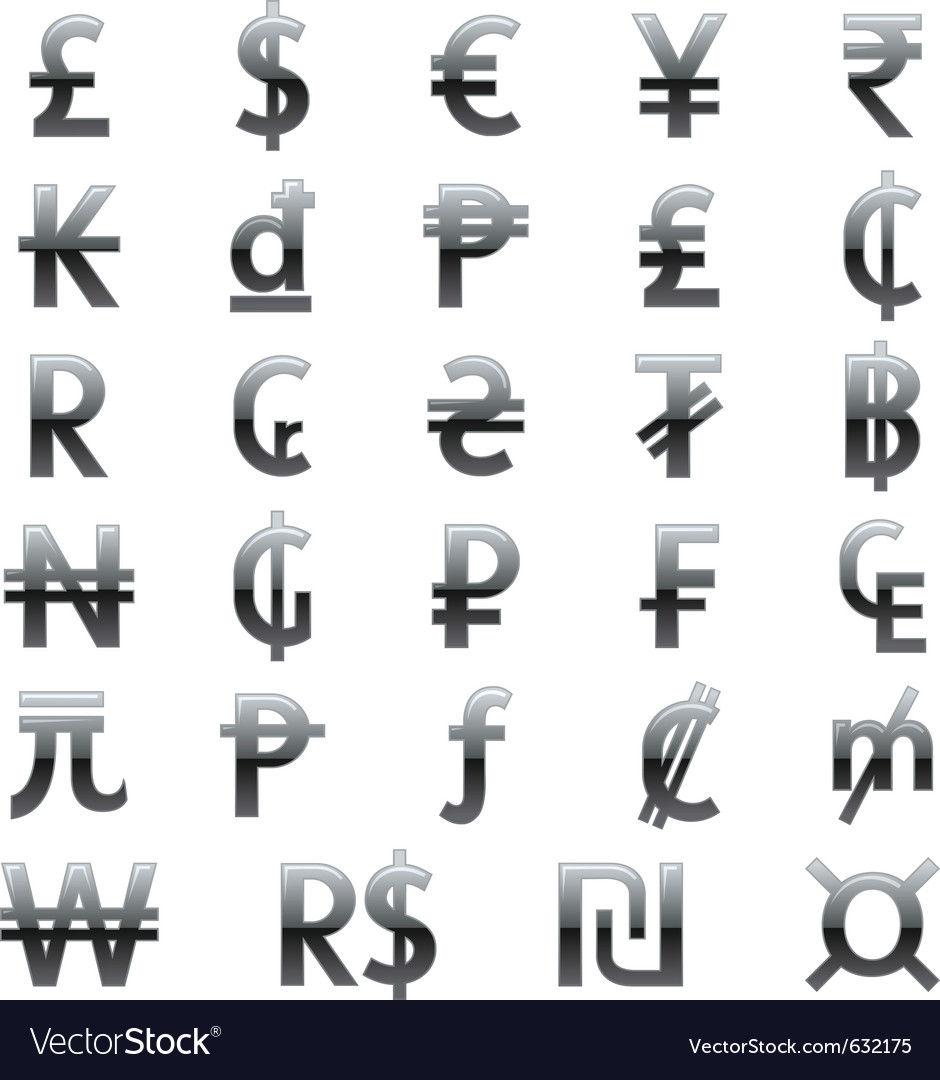 Currency symbols of the world royalty free vector image currency symbols of the world vector image biocorpaavc Images