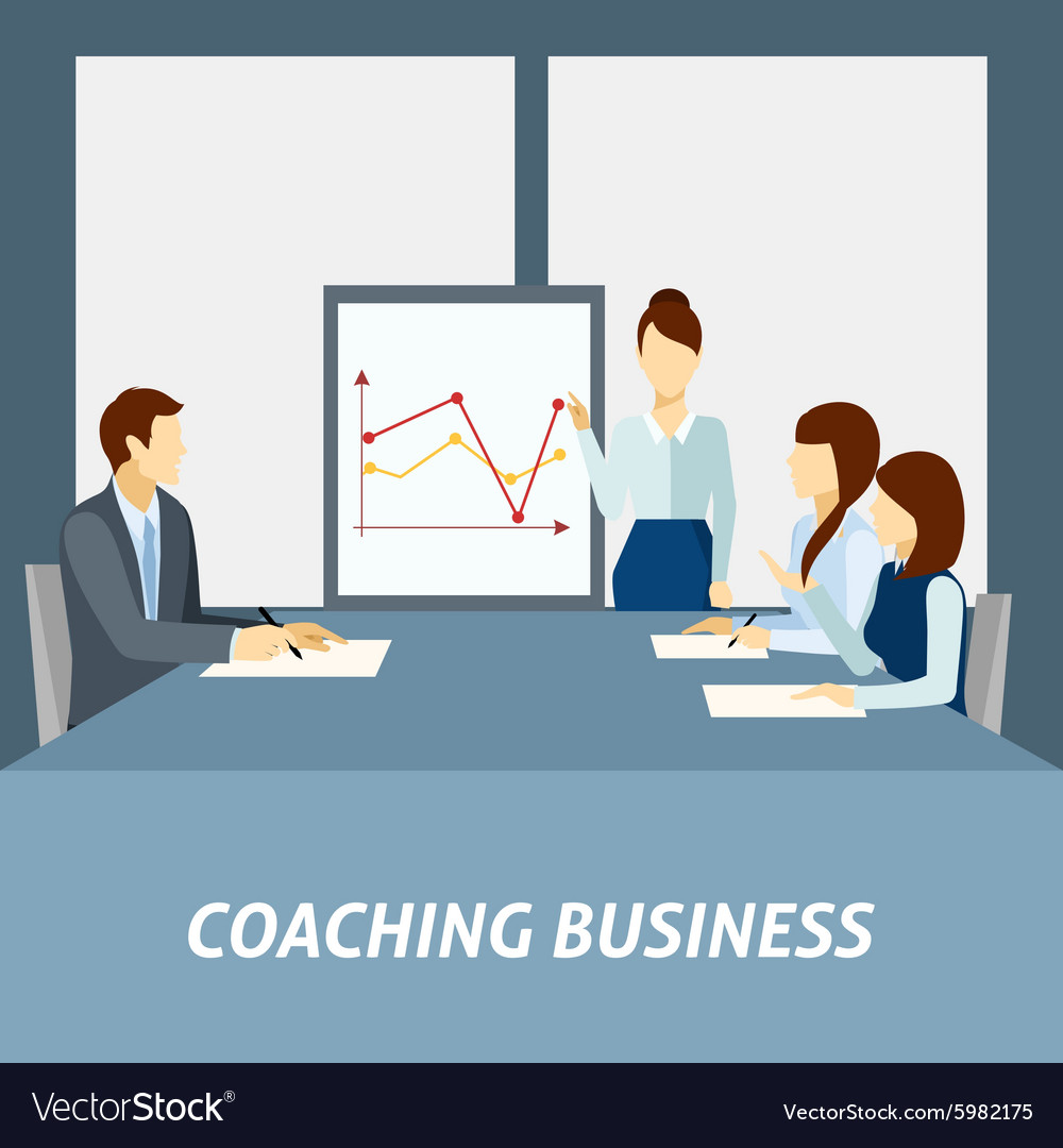 Successful business coaching poster vector image