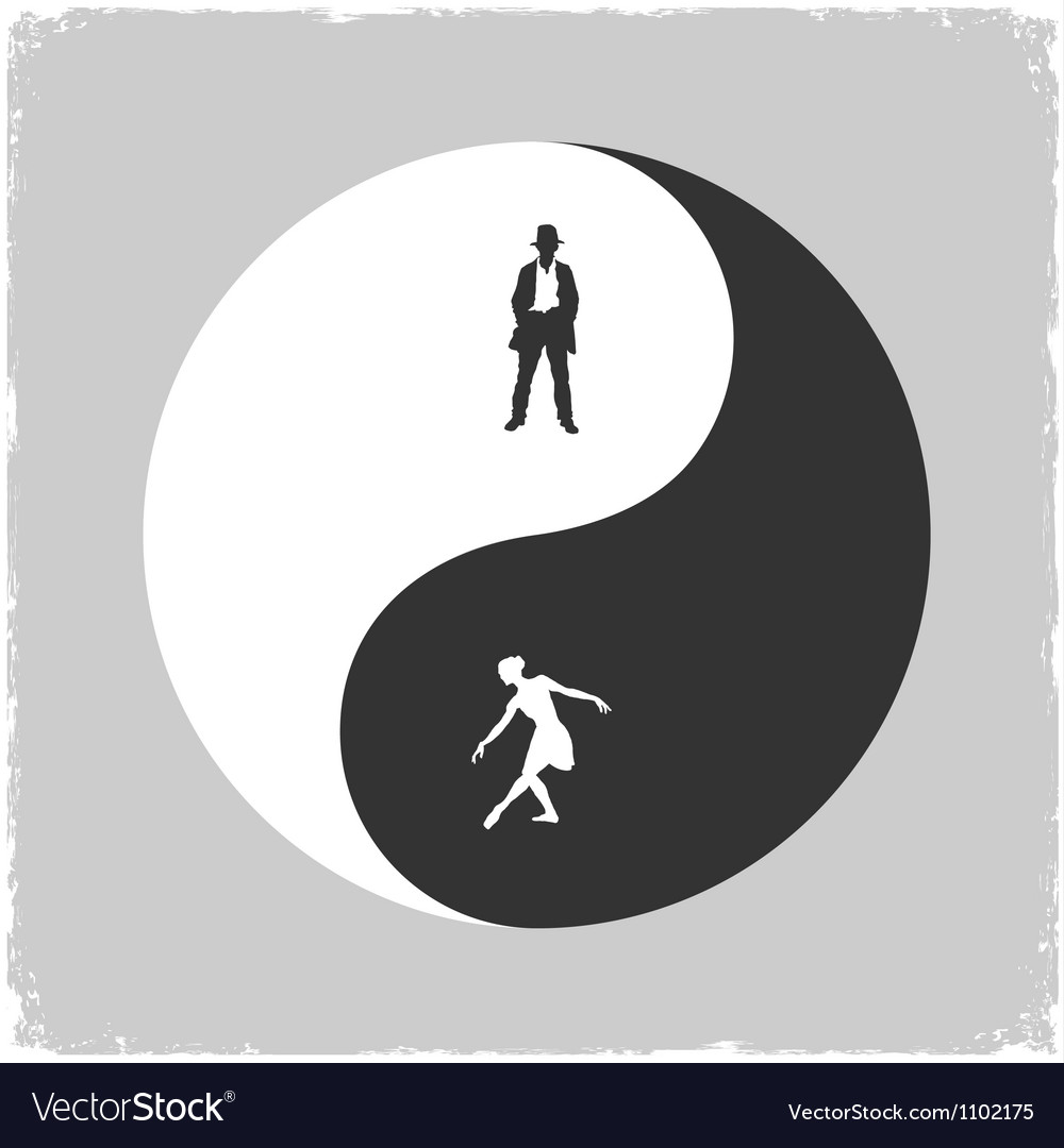 Yin yang male and female symbol royalty free vector image yin yang male and female symbol vector image biocorpaavc