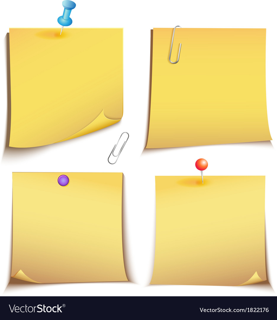 Adhesive memory Notes set vector image