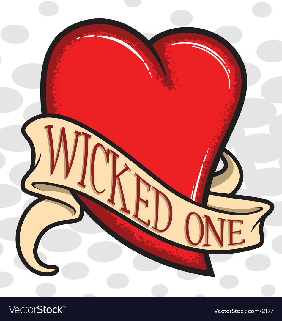 Wicked heart vector image