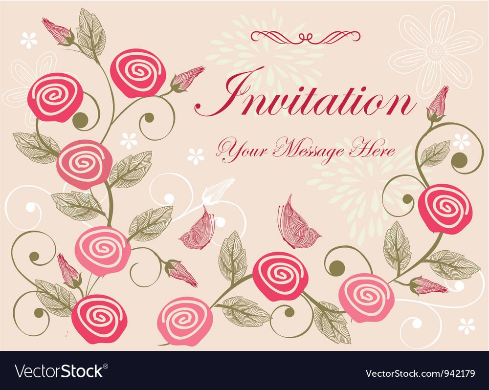 floral invitation template
