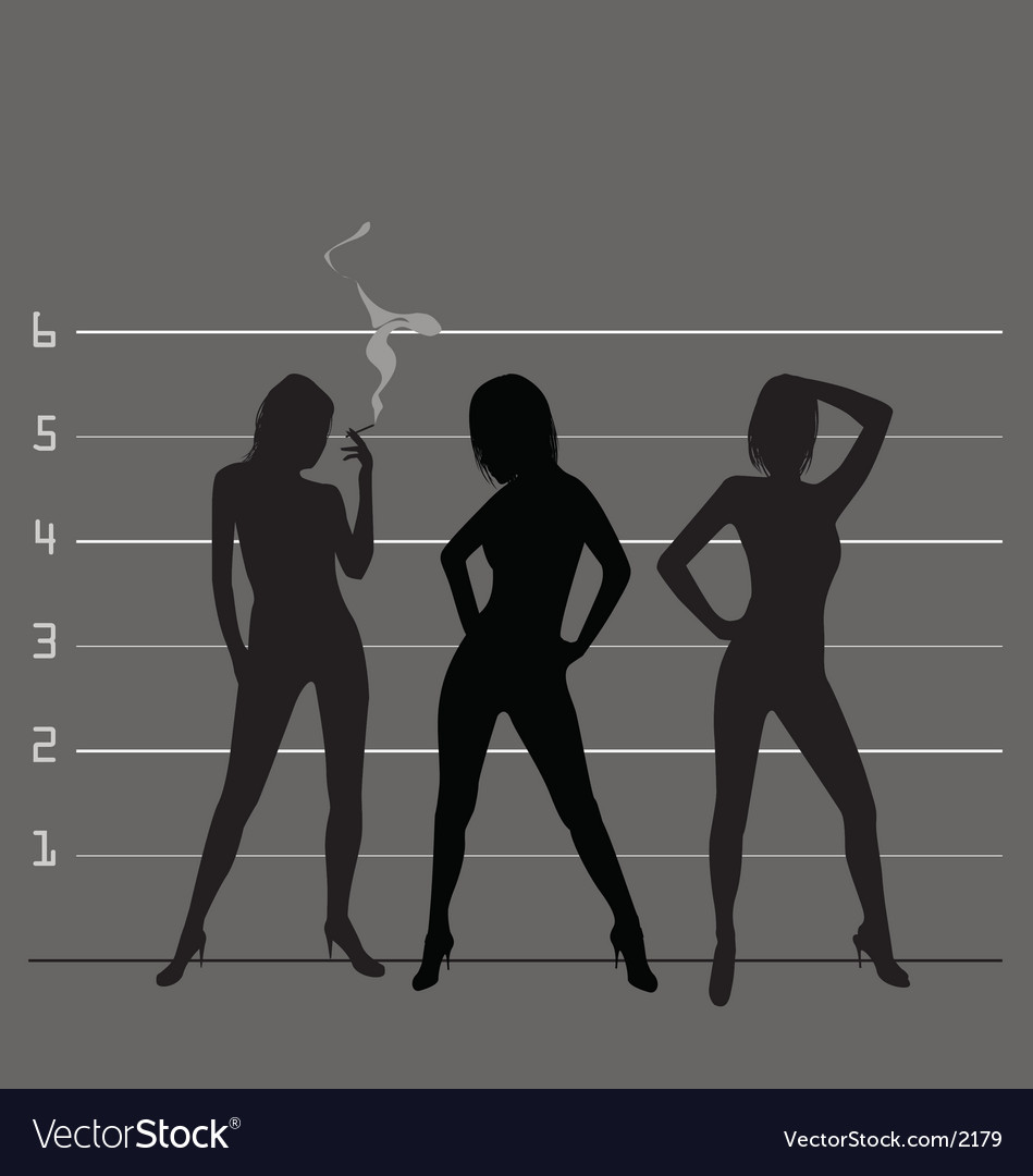 Police line up vector image
