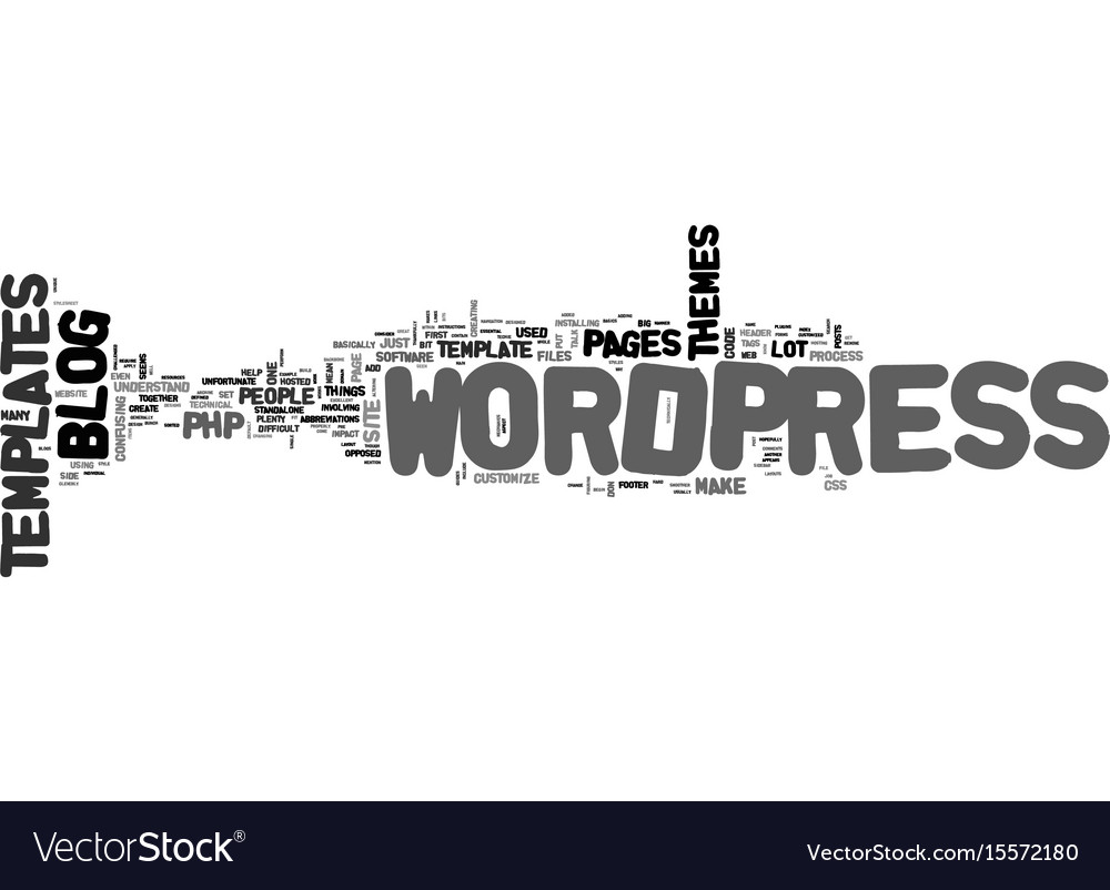 Are wordpress templates difficult to understand vector image