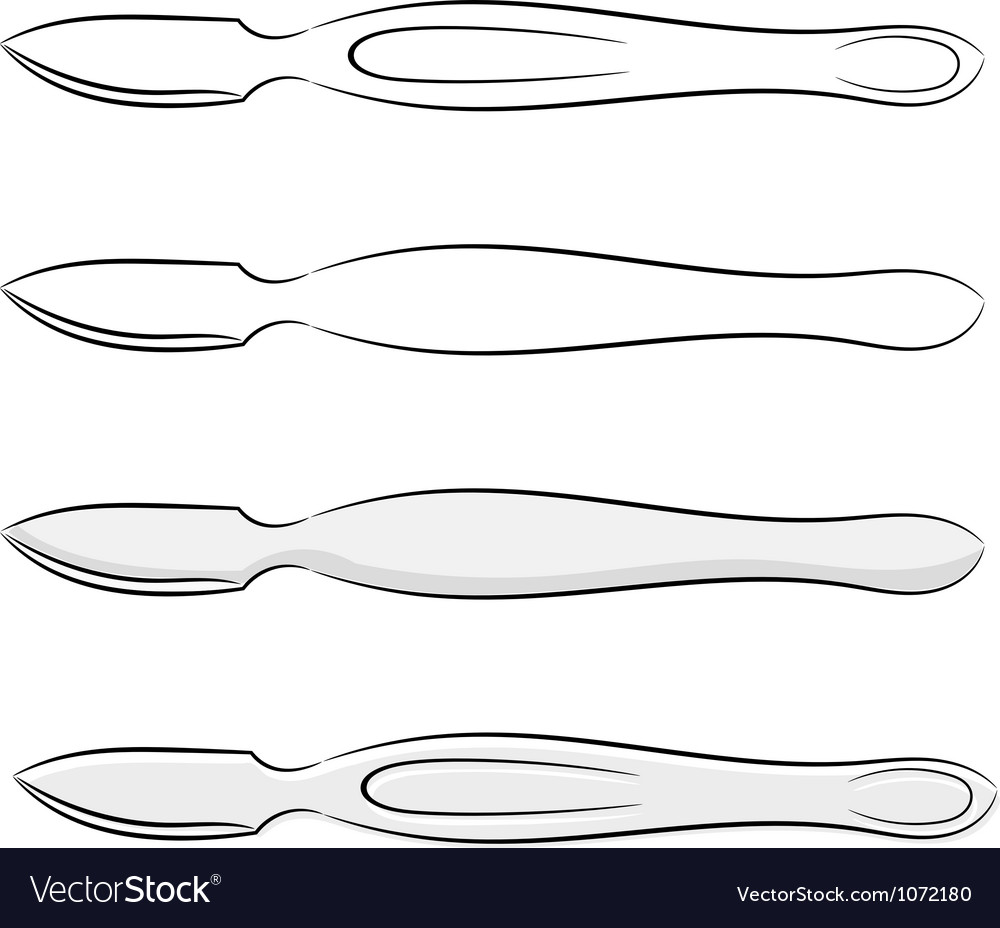Cartoon medical scalpel eps10 vector image
